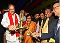 "M. Venkaiah Naidu lighting the lamp to inaugurate the ""Aadi Mahotsav"" a Mega fortnight long National Tribal festival with the theme A celebration of the spirit of Tribal culture, cuisine & commerce, in New Delhi.jpg"