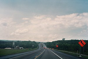 Maryland Route 36 - MD 36 approaching Interstate 68 south of Frostburg