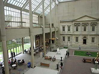 Charles Engelhard Court in the North Wing facing Central Park MET architecture NYC.jpg