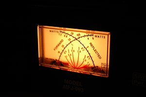 Backlit cross-needle SWR meter