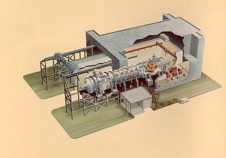 Mirror Fusion Test Facility - Drawing of the MFTF building