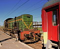 MOROCCAN RAILWAYS DIESEL SHUNTER AT CASA VOYAGUERS STATION CASABLANCA MOROCCO APRIL 2013 (8695768900).jpg