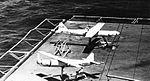 MQM-36 Shelduck drones on USS Kearsarge (CVS-33) in 1966.jpg