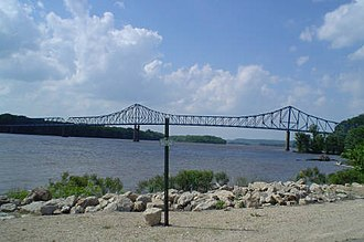 U.S. Route 52 - US 52 crosses the Mississippi River at Savanna, Illinois and Sabula, Iowa on the Savanna–Sabula Bridge.