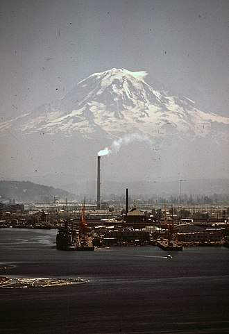 Port of Tacoma - The Kaiser Aluminum plant, now part of the superfund site, in 1972.