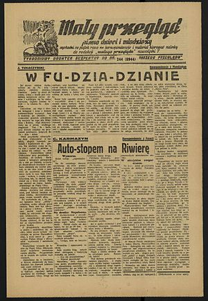 Janusz Korczak - Last issue of Mały Przegląd (Little Review) dated 1 September 1939