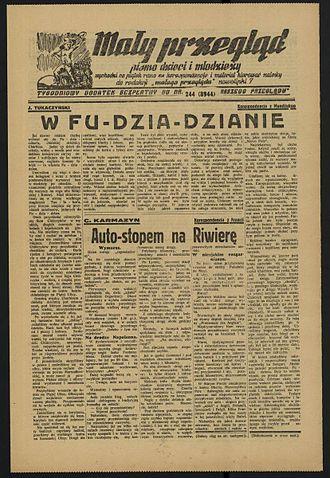 Janusz Korczak - Last issue of Mały Przegląd (Little Review) dated 1 September 1939