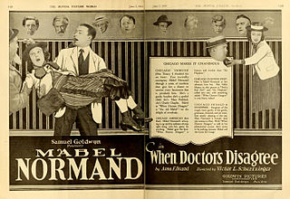 <i>When Doctors Disagree</i> 1919 film by Victor Schertzinger