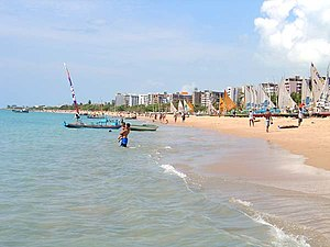Alagoas - Pajuçara Beach in Maceió.