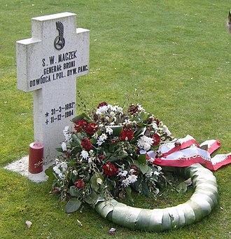 Stanisław Maczek - Maczek's grave, Polish cemetery, Breda, Netherlands