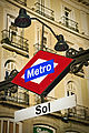 Madrid. Puerta del Sol square. Subway sign. Spain (4068973367).jpg