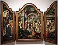 Maestro del 1518 (seguace), trittico con l'adorazione del bambino, re magi e presentazione al tempio, 1500-30 ca. (anversa) 01.jpg