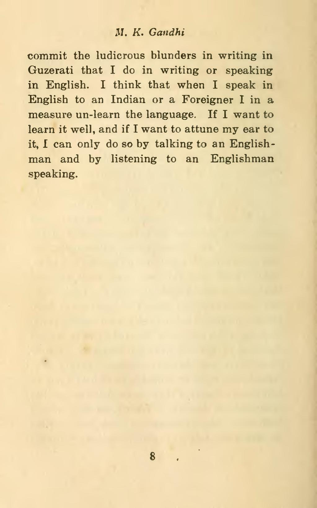 mahatma gandhi information in english speech