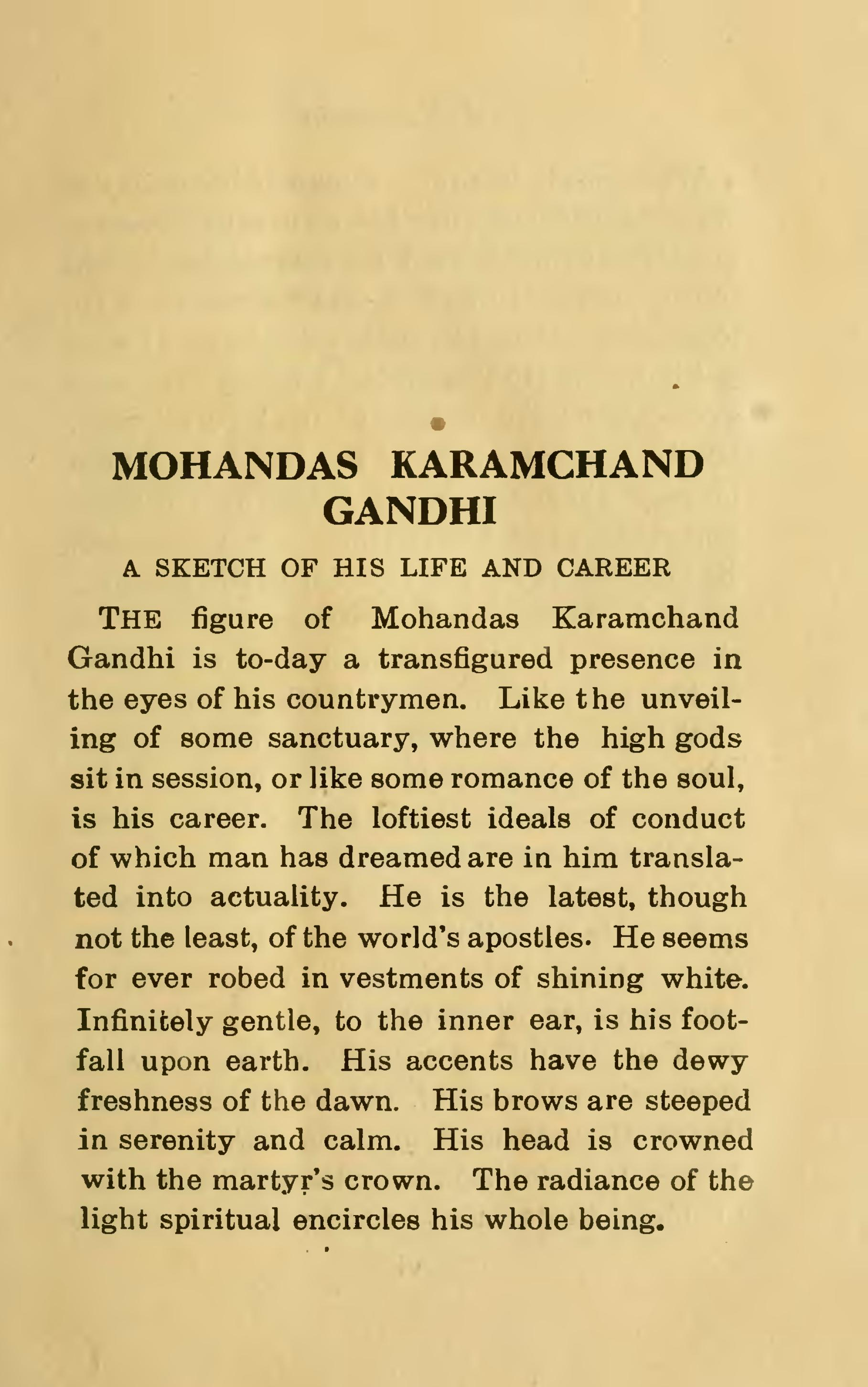 Mahatma gandhi writings