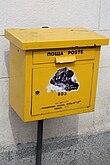Mailbox in Sofia Bulgaria Poste Пощта IMG 5433.JPG