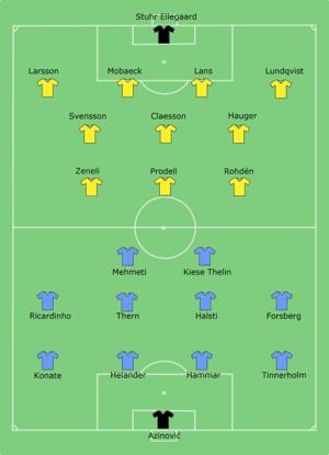 2014 Svenska Supercupen - Image: Malmö FF vs Elfsborg 2014 11 09