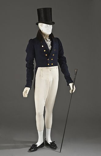 Court shoe - Image: Man's tailcoat 1825 1830