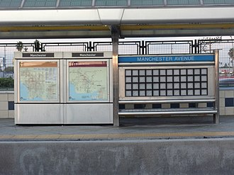 Manchester station (Los Angeles Metro) - Image: Manchester Silver Line Station 10