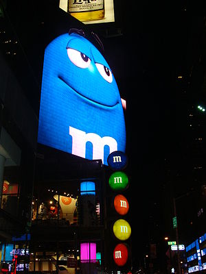 M&M's - Outside of M&M's World in Times Square, New York City
