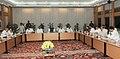 Manmohan Singh chairing the Cauvery River Authority Meeting, in New Delhi. The Union Minister for Parliamentary Affairs and Water Resources, Shri Pawan Kumar Bansal, the Chief Minister of Tamil Nadu, Dr. J. Jayalalithaa (1).jpg