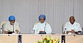 Manmohan Singh chairing the Full Planning Commission meeting, in New Delhi. The Deputy Chairman, Planning Commission, Shri Montek Singh Ahluwalia and the Union Minister for Agriculture and Food Processing Industries.jpg