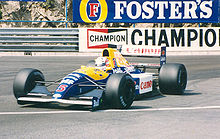 Photo de Nigel Mansell au volant d'une Williams-Renault lors du Grand Prix de Monaco 1991.