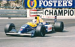 Williams FW14 podczas Grand Prix Monako w 1991 roku