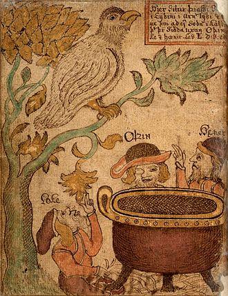 Þjazi - Image: Manuscript boiling