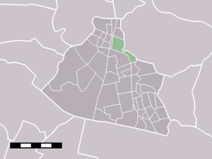 Wormerveer - Image: Map NL Zaanstad Wormerveer