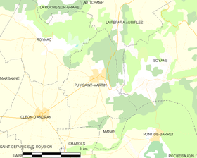 Map commune FR insee code 26258.png