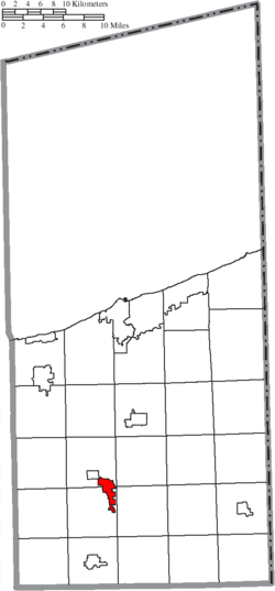 Location of Roaming Shores in Ashtabula County