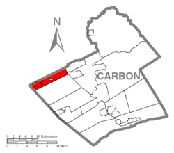 Location of Banks Township in Carbon County