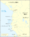 Map of Caesar's campaign in the Roman province of Macedonia (Japanese).png