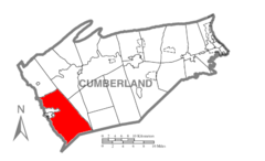 Map of Cumberland County Pennsylvania Highlighting Southampton Township.PNG