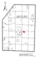 Map of East Butler, Butler County, Pennsylvania Highlighted.png
