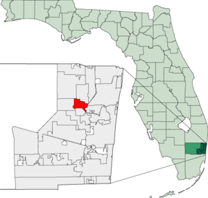 Map of Florida highlighting North Lauderdale.png