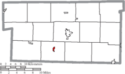 Location of Killbuck in Holmes County
