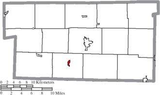 Killbuck, Ohio - Image: Map of Holmes County Ohio Highlighting Killbuck Village