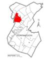 Map of Huntingdon County, Pennsylvania Highlighting Porter Township.PNG