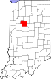 Map of Indiana highlighting Carroll County.svg