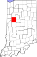 Map of Indiana highlighting Tippecanoe County.svg