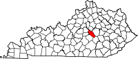 Map of Kentucky highlighting Garrard County