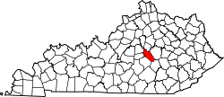 Map of Kentucky highlighting Garrard County.svg
