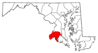 Map of Maryland highlighting Charles County.png