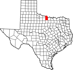 Map of Texas highlighting Clay County.svg