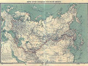 History of rail transport in Russia - Map of Russian railroads in 1916