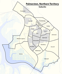Map of the Suburbs of Palmerston, Northern Territory.png