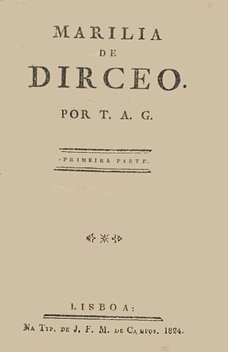 Marília de Dirceu - The front cover of an 1824 edition of the book