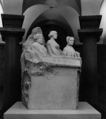 Marble statue of three suffragists by Adelaide Johnson in the Capitol crypt, Washington, D.C..png