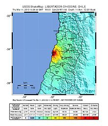March 2010 Chile earthquake intensity USGS.jpg